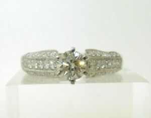 18CT WHITE GOLD DIAMOND ENGAGEMENT SOLITAIRE RING