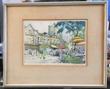 Vintage Watercolor by Listed Artist J. (JEAN) NICOL ~ La Mere Catherine, PARIS