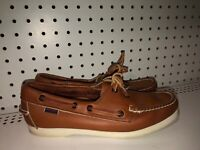 Sebago Docksides Womens Leather 2-Eye Casual Boat Shoes Size 9 NARROW Brown