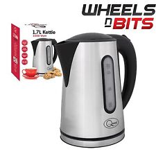 Brand New Brushed Stainless Steel Cordless Kettle Jug 1.7Litre 2200W Water Level