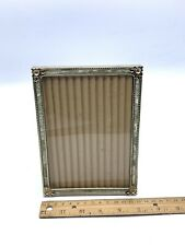 Vintage Photo Frame Faux Mother of Pearl Ornate Gold Tone Metal