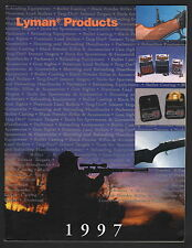 Lyman Products Catalog - 1997