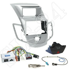 Ford Fiesta JA8 2-DIN Blende silber+Alpine Lenkradinterface Adapter+ Warnblinker