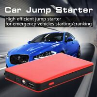Portable Car Battery Jump Starter Power Bank Booster Charger Clamps 12V 8000mAh