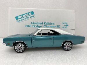 1/24 Danbury Mint 1969 Dodge Charger SE Teal Limited RARE