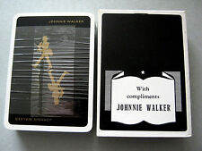 WHISKY JOHNNIE WALKER BLACK SCOTCH FRENCH DECK PLAYING CARDS VINTAGE RARE WIDE