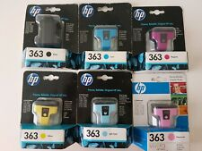 HP HEWLETT PACKARD HP 363 YELLOW INK CARTRIDGE JOBLOT C8773EE X 4 2017 DATE