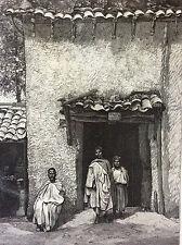 Exposition Universelle Paris 1889 la maison Kabyle estampe