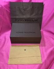 "LOUIS VUITTON BROWN HARD OBLONG EMPTY BOX 13.25""x9.75""x4.5"",Dust Bag & Gift Bag."