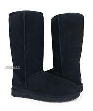 UGG Classic Tall II Black Suede Fur Boots Womens Size 9 *NIB*