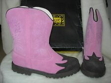 NEW L'AMOUR Pink & Brown Suede Cowboy Boots 5 36 4 Cowgirl Western Shoes LAMOUR
