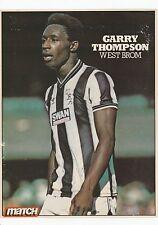 GARRY THOMPSON WEST BROMWICH ALBION 1982-1985 ORIGINAL SIGNED MAGAZINE CUTTING