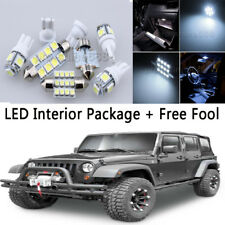5X Bulb Car LED Interior Lights Package kit For 2007 Jeep Wrangler JK WhK 2-Door