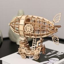 Rolife Airship 3D Wooden Puzzle Laser Cutting Model Building Toy for Children