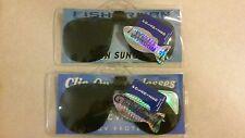 Fisherman Eyewear Clip On Sunglasses Polarized 100% UV Protection 2 Pairs