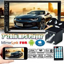 """Double Din Car Radio MP5 Stereo Camera 7"""" Mirrors For Android IOS GPS Navigation(Fits: Nissan)"""