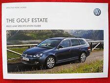 VW Golf Estate-precio y guía de la especificación eficaz desde 1.6.2012 - 19 páginas