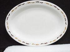 "Bristile Platter (10 3/8"")  dark & light brown leaves pattern  1976"