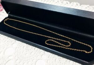 18k/ 18ct Solid Yellow Gold  Chain 9.0 grams NOT SCRAP