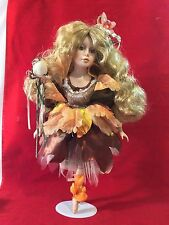 """Vintage Swan Collection Porcelain Fairy Doll 19"""""""