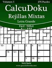 CalcuDoku: CalcuDoku Rejillas Mixtas Impresiones con Letra Grande - de Fácil...
