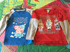 2 quality brand boy l/s tshirts/tops, size 5-6, very good condition