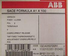 ABB SACE FORMULA A1 A 100 2 Pole 100 Amp SACE A1 Breaker 1SDA069720R1