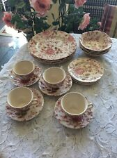 Johnson Brothers Rose Chintz 20 Pieces Place Setting Service For 4 England