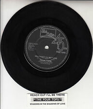 "THE FOUR TOPS  Reach Out, I'll Be There 7"" 45 rpm record + juke box title strip"