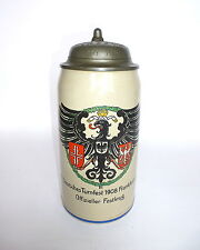 Chope à bière XI Allemand Festival de gymnastique 1908 FRANKFURT A / M.Berliner