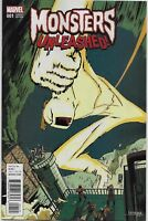 Monsters Unleashed #1 Limited Variant COVER B Marvel Comics 1st print