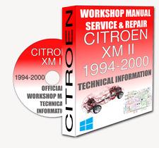 Service Workshop Manual & Repair Manual CITROEN XM II 1994-2000 +WIRING