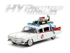 JADA 1:24 HOLLYWOOD RIDES GHOSTBUSTERS ECTO-1 CADILLAC DIE-CAST WHITE 99994 NB