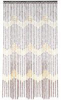 Hanging Wooden Beaded Door Curtain Screen Waves 90 X 180 Cm Doorways Windows