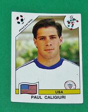 N°104 PAUL CALIGIURI USA PANINI COUPE MONDE FOOTBALL ITALIA 90 1990 WC WM