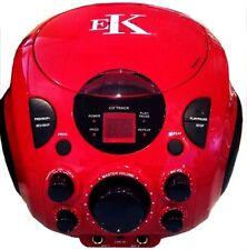 Easy Karaoke ekg77 Beatbox Portable Cd gráficos Jugador Máquina Con Micrófono-Rojo