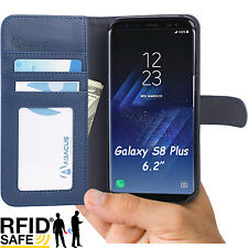 Blue Wallet Flip Cover Case for Samsung Galaxy S8 PLUS Phone