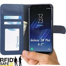 PU Blue Wallet Flip Cover Case for Samsung Galaxy S8 PLUS Phone