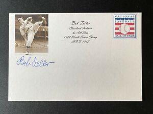 Bob Feller Signed Cleveland Indians 4x6 Index Card HOF Auto Autograph