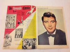 The Flying Fontaines Michael Callan Nordlund 1959 Danish Movie Magazine Program