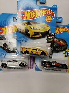 🔥🔥Hot Wheels Corvettes lot of 3 Diecast Car