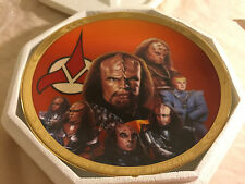 1995 Hamilton Collection Star Trek Redemption Collector Plate Coa