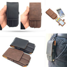 Waist belt Card Wallet Hanging Leather pocket Bag Flip Mobile phone Case Cover