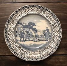 Antique Adams The Tour of Doctor Dr Syntax Sells Grizzle Transferware Blue Plate