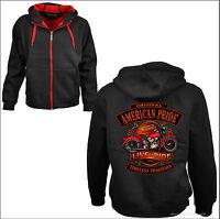 *Biker Hoodie Jacke Sweatshirt Harley-Oldimer-Motiv Vintage Motorcycle USA*4253