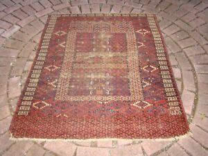 Antique Turkmen Ensi Rug Worn Shabby Chic Cabin, rustic decor or Pillows
