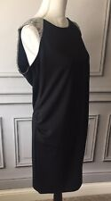Old Navy Maternity Dress Medium Sleeveless Tank Dress Black Gray Capped Sleeves