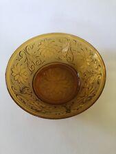 TIARA AMBER Bowl - Depression Glass - Vintage