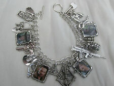 THE WALKING DEAD LOADED PICTURE CHARMS BRACELET