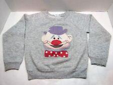 Vintage Park Bench Kids Clown Sweatshirt Size 7